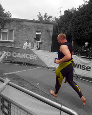 Chris Heywood at the Bloodwise Blenheim Triathlon 2015