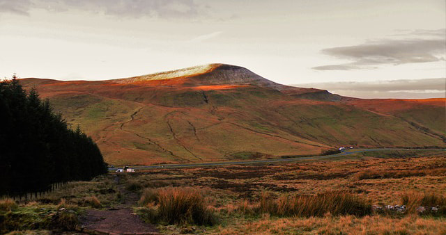 Pen-Y-Fan in the Brecon Beacons - home of the SAS Fan Dance event