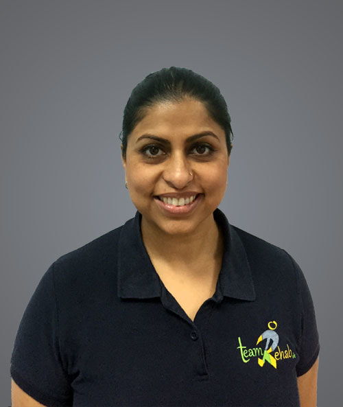 A picture of Minal Gadhia, Chartered Physiotherapist at Team Rehab uk